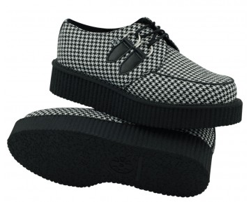 TUK - CREEPERS HOUNDSTOOTH ROUND TOE LOW SOLE